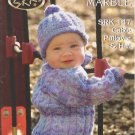 SRK Baby Pattern SRK 147 Cable Pullover & Hat Knitting Pattern