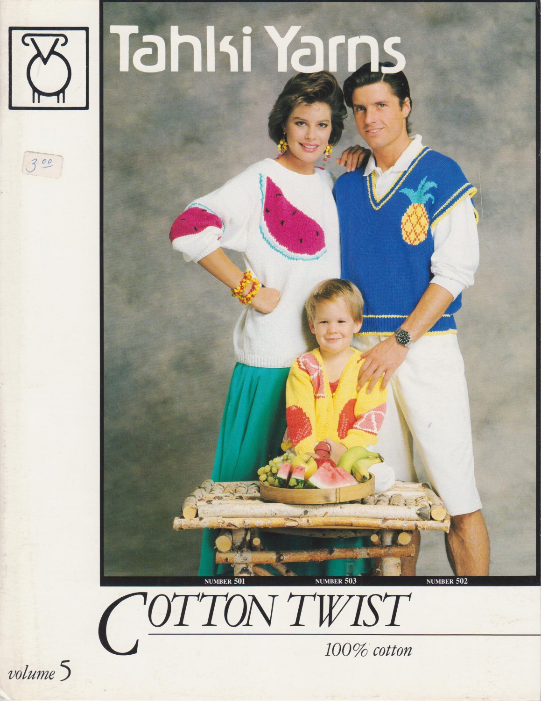 Tahki Yarns Cotton Twist Knitting Pattern volume 5