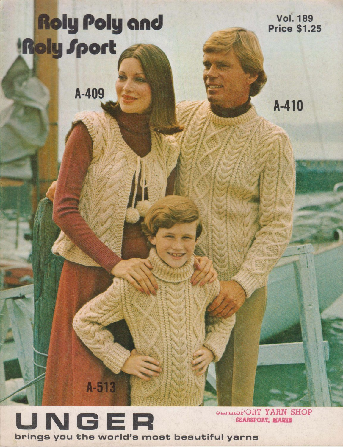Unger Knitting & Crochet Pattern Book Vol. 189 Roly Poly and Roly Poly Sport