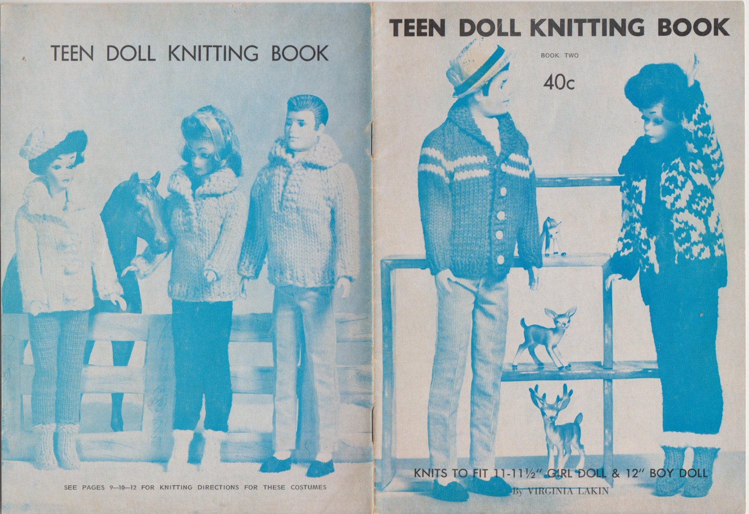 Virginia Lakin Doll Clothes Pattern Book Teen Doll Knitting Book - Book Two