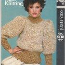 Vogue Knitting Pattern 1982 Joan Vass Design #105 Turtleneck Pullover Sweater