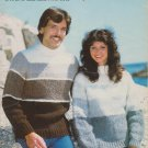 White Buffalo Elenka Pattern #2004 to Knit His Or Hers Pullover Or Cardigan