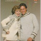 White Buffalo/Lama Circular Knitting Pattern #9001 His and Hers Pullover & Vest