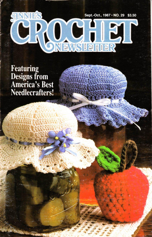 Annie's Attic Crochet Publication Annie's Crochet Newsletter No.29 Sept-Oct 1987