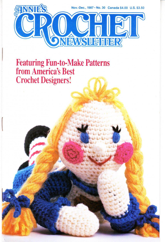 Annie's Attic Crochet Publication Annie's Crochet Newsletter No.30 Nov/Dec 1987