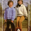 Bouquet Knitting Pattern #411 to knit Children's Bulky Cardigans