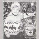 Bouquet Knitting Pattern 500 Big Chief Sweater Knit to Fit Sizes 4 to 12 yrs