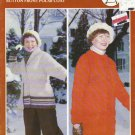 Bouquet Knitting Pattern #389 Wrap Around Siwash Coat & Button Front Polar Coat