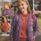 Brunswick 1991 Volume 913 Knitting Pattern Jacobean Floral Twin Set