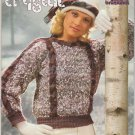 Brunswick 1985 knitting Pattern Booklet Vol 8510 Snowflakes and Crystal