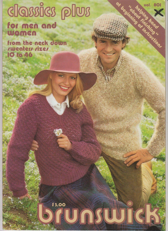 Brunswick Classics Plus 1980 Knitting Pattern Booklet Volume 801