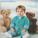 Brunswick 1990 Knitting Pattern Booklet Vol.904 Buttons and Bows
