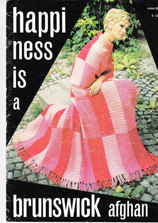 Brunswick 1977 KnitCrochet Pattern Book Vol. 683 Happiness Is A Brunswick Afghan