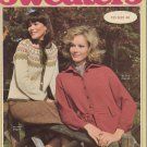 Bucilla Vintage 1976 Knitting Pattern Booklet Volume 91 Sweaters
