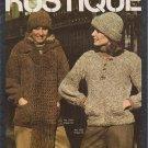 Bucilla Rustique Vol. 13 Vintage 1977 Knitting Pattern Booklet