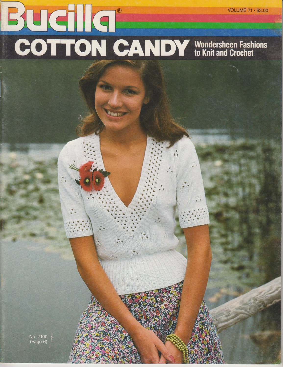 Bucilla Cotton Candy Vintage 1983 Knitting and Crochet Pattern Booklet Volume 71