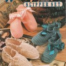 Annie's Attic 1992 Crochet Pattern #87S93 Antique Crochet Slipper Set