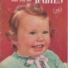 Clark's Knit and Crochet For Girl and Boy Babies Vintage Pattern Book