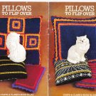Coats & Clark's Book No. 252 Pillows To Flip Over 1976 Knit Crochet Pattern Book