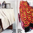 Coats & Clarks Pattern Book No.284 Chill Chasers Afghans To Knit & Crochet
