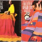 Coats & Clark's Pattern Book No. 223 Creative Afghans Hairpin Lace Crochet-Knit
