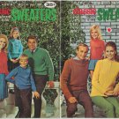 Coats & Clark Vintage Knitting Pattern Booklet Classic Sweaters Book No. 186