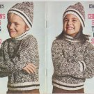 Coats & Clarks 1972 Book No.219 Children's Fashions To Knit & Crochet Sizes 2-12