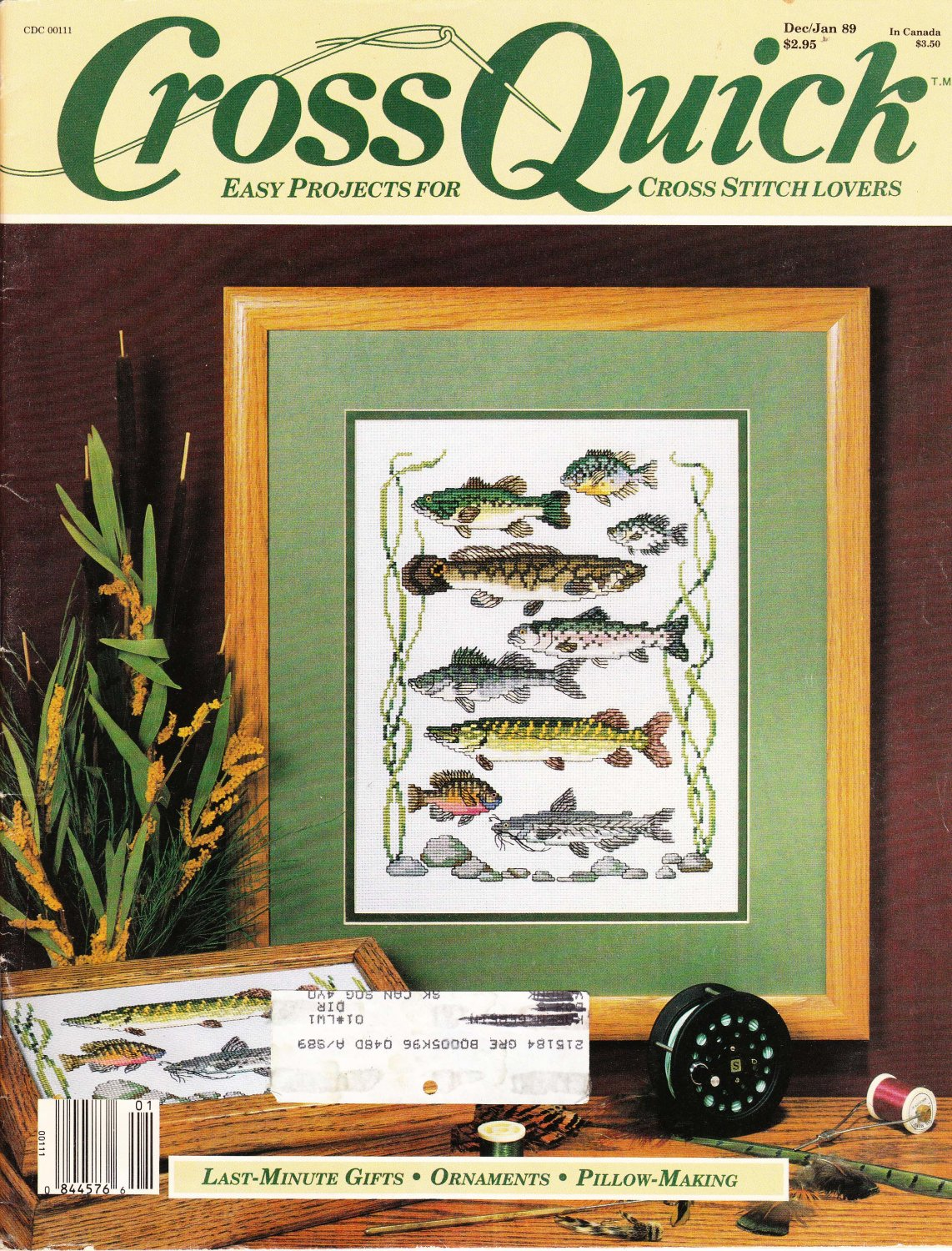 Cross Quick Cross Stitch Magazine Vol. 1 No. 2 Dec/Jan 1989