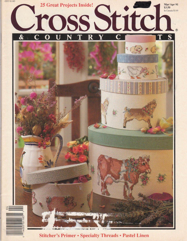 Cross Stitch & Country Crafts Mar Apr 1991 Magazine