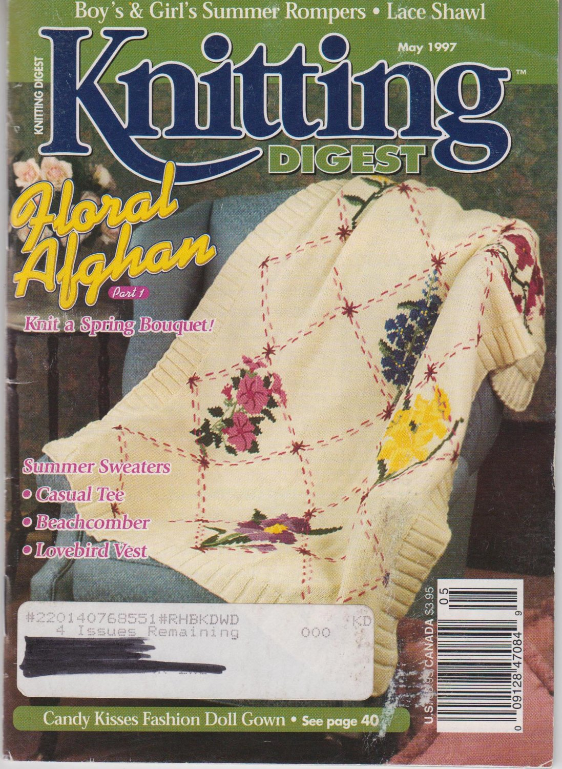 Knitting Digest Magazine May 1997 Issue Volume 19 Number 3