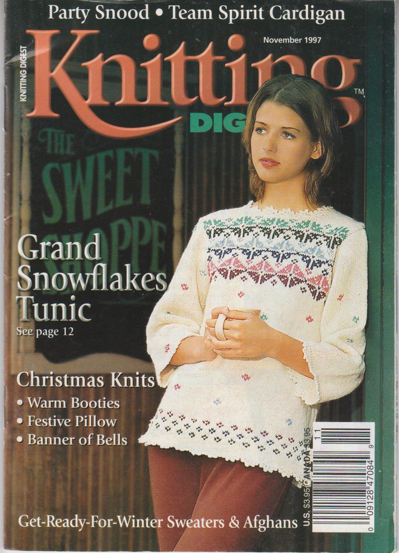 Knitting Digest Magazine Issue November 1997 Volume 19 Number 6