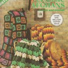 Leisure Arts 1974 Pattern Leaflet #44 Classic Afghans to knit and crochet