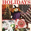 Leisure Arts 1997 Crochet Pattern Booklet Leaflet #2931 Hooked on Holidays