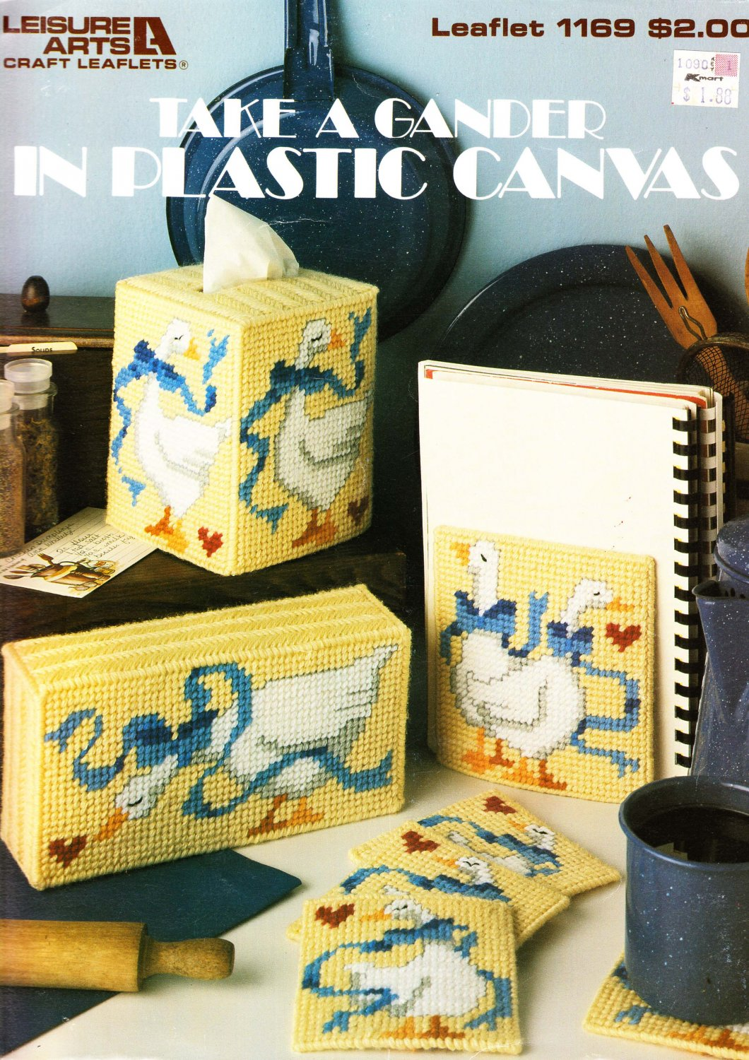 Leisure Arts 1988 Patterns Craft Leaflet #1169 Take a Gander in Plastic Canvas