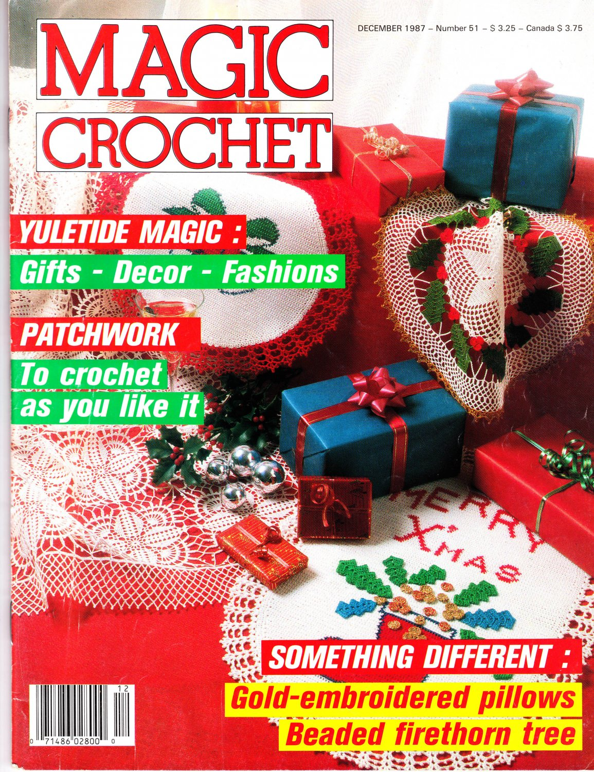 Magic Crochet Magazine Issue December 1987 Number 51