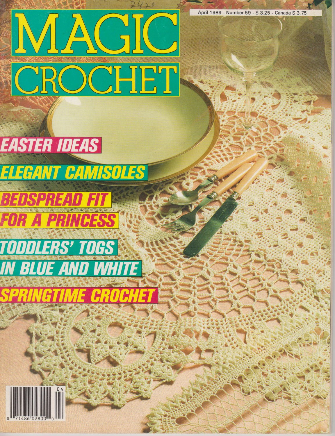 Magic Crochet Magazine Issue April 1989 Number 59