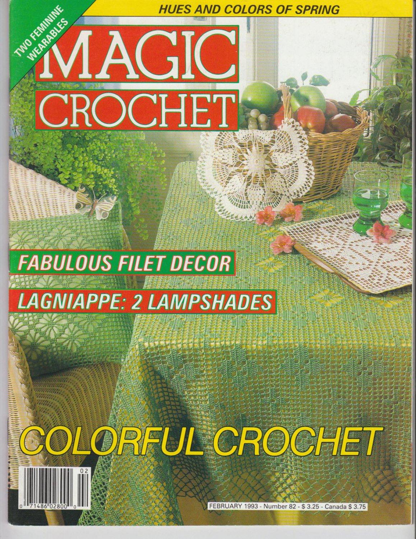 Magic Crochet Magazine Issue February 1993 Number 82