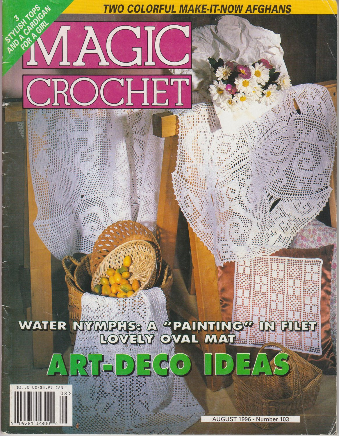 Magic Crochet Magazine Issue August 1996 Number 103