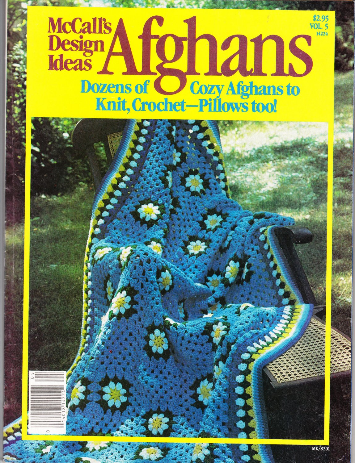 McCall's Design Ideas Vol. 5 Afghans 1982 Magazine Issue Knit Crochet