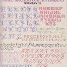 Leisure Arts 1988  Cross Stitch Pattern Leaflet#705 More Backstitch Alphabets Mini Series #20