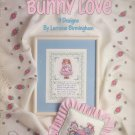 Leisure Arts 1990 Cross Stitch Pattern Leaflet 952 Bunny Love