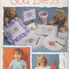 Leisure Arts 1992 Cross Stitch Pattern Leaflet 2180 God Bless