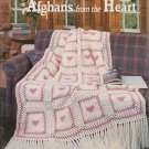 American School of Needlework 1993 Crochet Pattern Booklet #1175 Afghans from the Heart