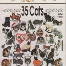 Jeanette Crews Designs Cross Stitch Pattern Leaflet #404 One Nighters 35 Cats