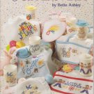 American School of Needlework 1993 Cross Stitch Pattern Booklet #3618 Sippers and Bibs
