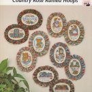 Janlynn Country Rose Ruffled Hoops Cross Stitch Pattern Leaflet #940-01