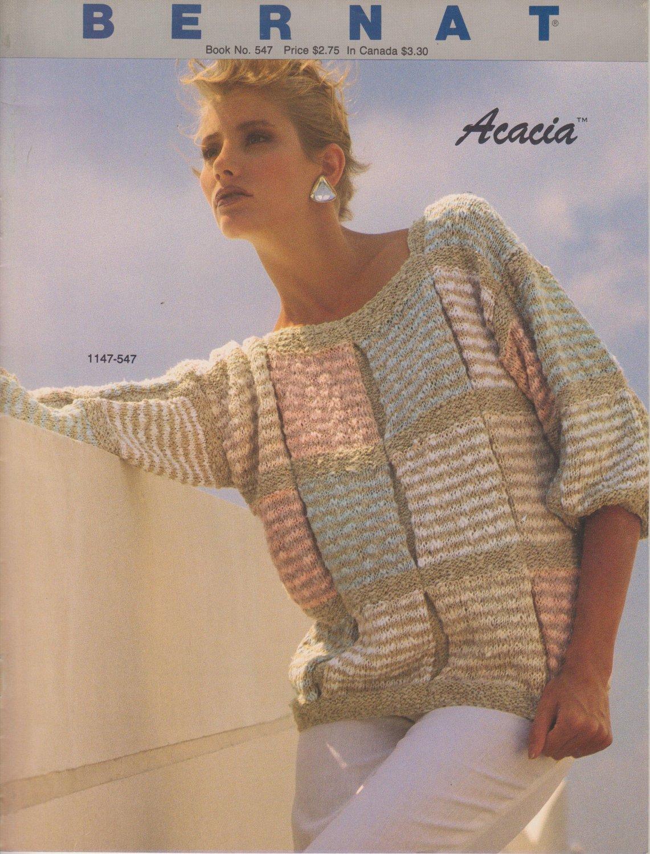 Bernat Acacia 1984 Handicrafter No.547 Knitting Pattern Book