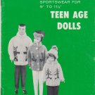 "Mary Maxim Exclusive Knitted Sportswear for 9"" to 11-1/2"" Teenage Dolls Pattern Book Vol.2"