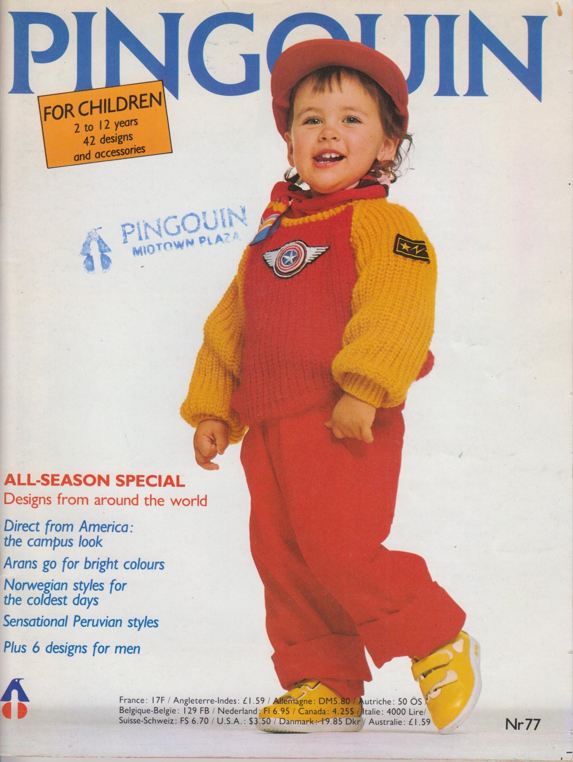 Pingouin Knitting Magazine Nr 77 with 42 designs and accessories for children 2-12 yrs