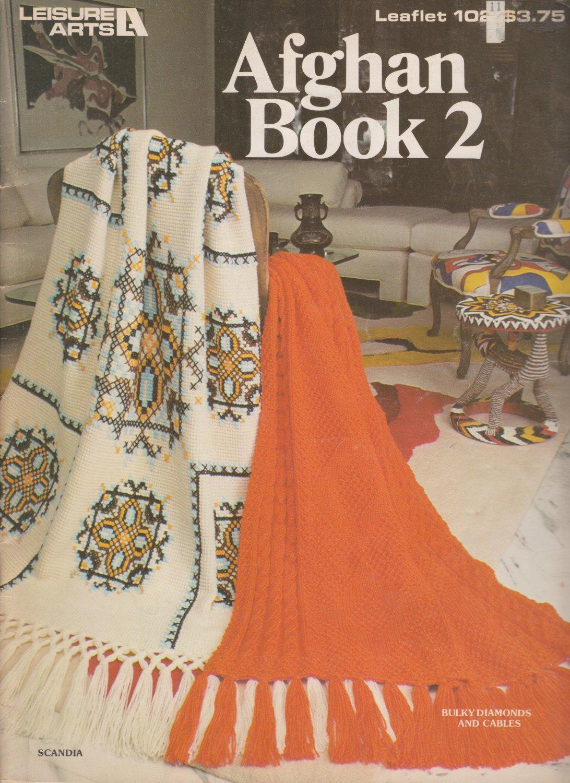 Leisure Arts 1977 Afghan Book 2 Leaflet #102